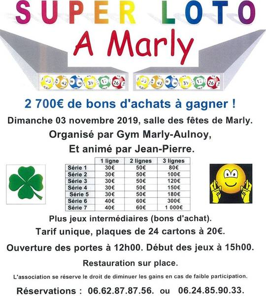 Loto Gym Marly Aulnoy 03 11 19