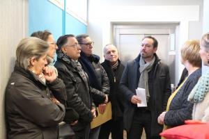 Inauguration de l'ascenseur de l'école Hurez Saint-Nicolas