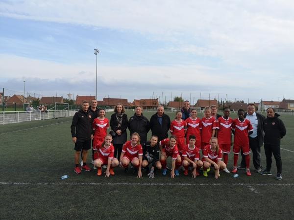 3ème Tour de la coupe féminine de football : VAFC / Amiens à Marly