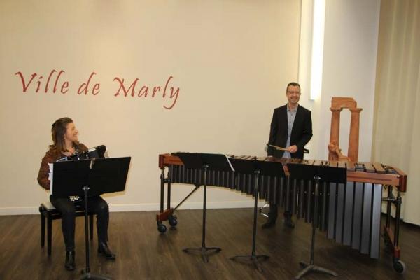 MMM : Duo parfait entre l'accordéon et le marimba !