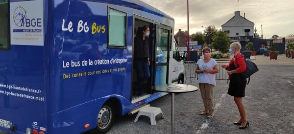Le BGE bus accompagne vos projets d'entreprise