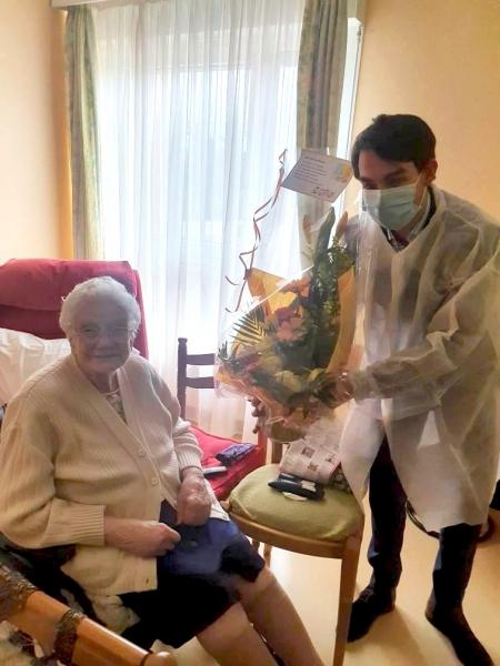 La doyenne de l'EHPAD « Les Magnolias » a fêté ses 107 ans !