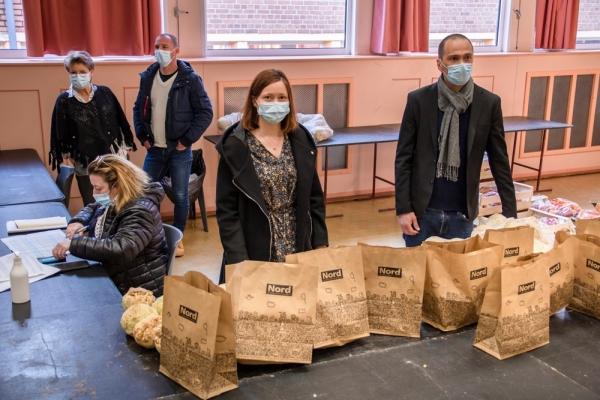 Une nouvelle distribution alimentaire organisée par le CCAS