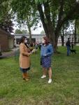Sensibilisation à l'éco-pâturage avec l'association Espoir Avenir à l'école Louise Michel